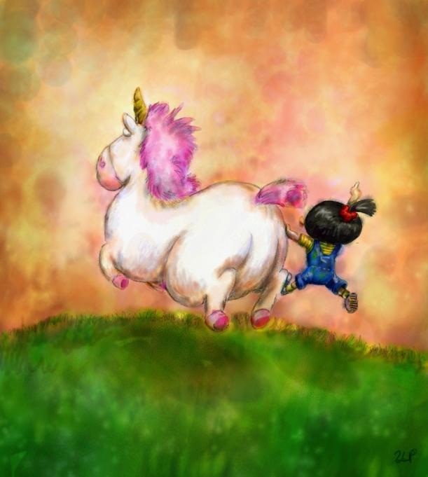Agnes with unicorn |Photo Credit: lueza-35.deviantart.com