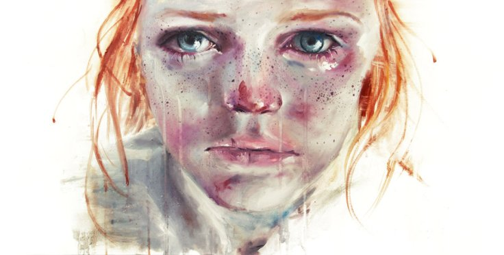 my eyes refuse to accept passive tears by Agnes Cecile