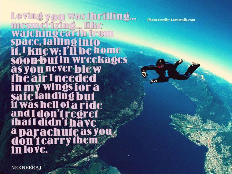 Parachute Quote nekneeraj